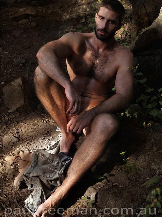 Naked rugged men