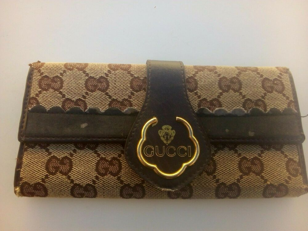 ccdb18897737 Vintage Gucci Wallet Purse Long Wallet Woman Authentic Used  Gucci ...