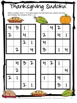 Thanksgiving Math Games Puzzles And Brain Teasers Harfleri Ogreniyorum Temel Matematik Egitim Faaliyetleri