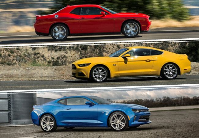 Ford Mustang Vs Chevrolet Camaro Vs Dodge Challenger  Autos