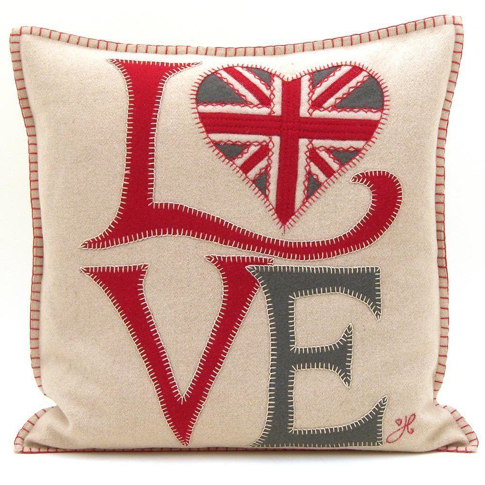 Fab Love cushion. Love and heart designer cushion