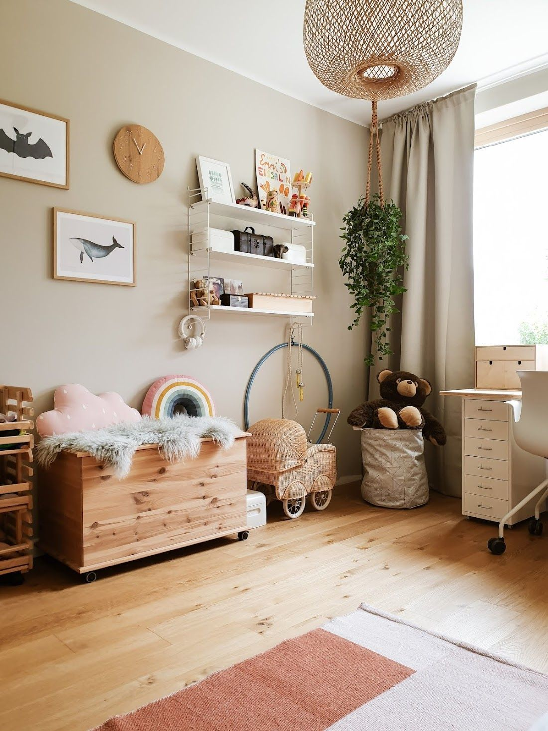 Photo of Ikea Children's Room | Kid's room with beige wall | Blog housing project | string she … – My Blog