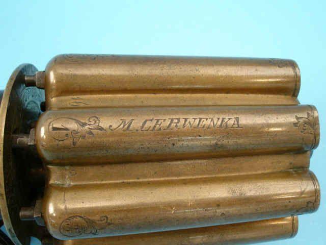 Brass barrels on a sixteen shot pepperbox pistol c. 1860