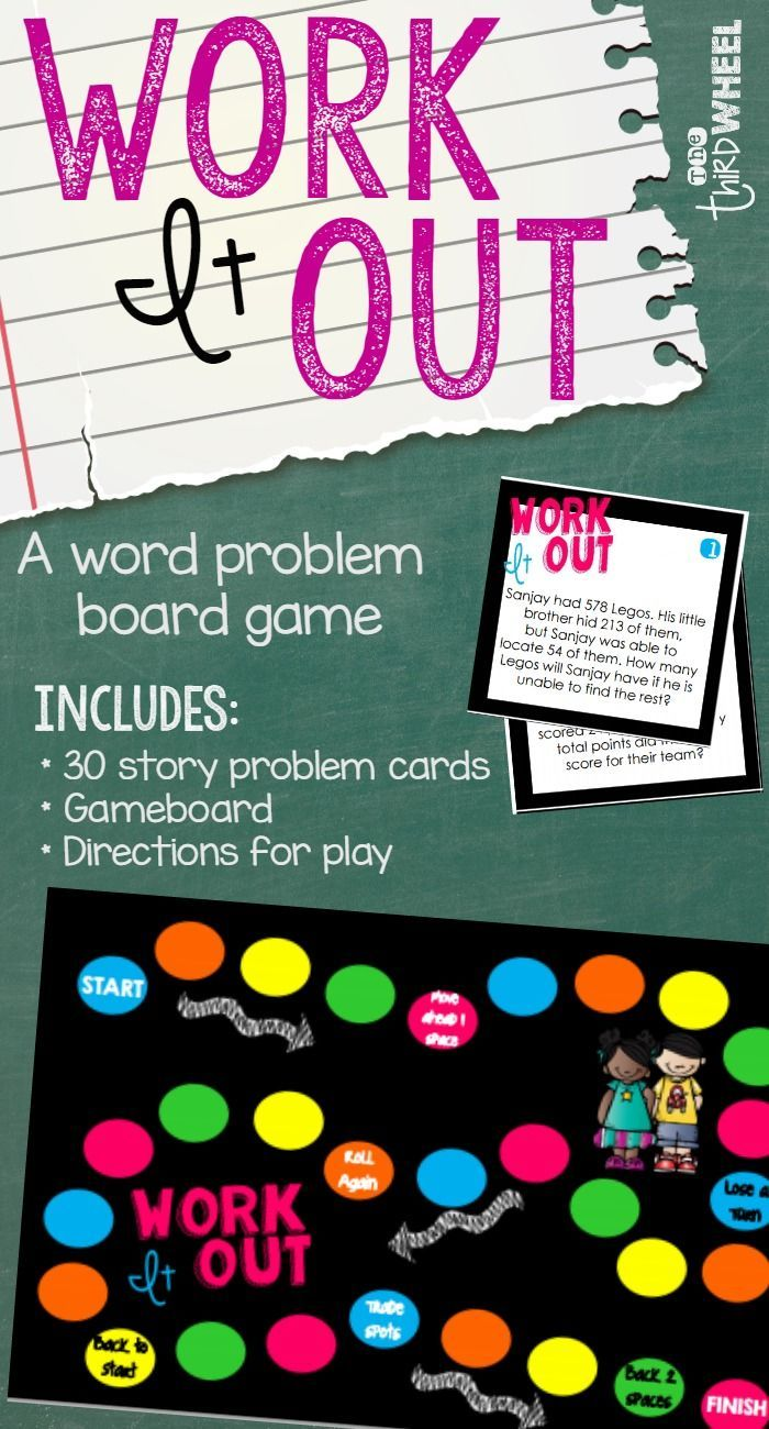 Problem Solving Math Game (Addition & Subtraction Word Problems ...