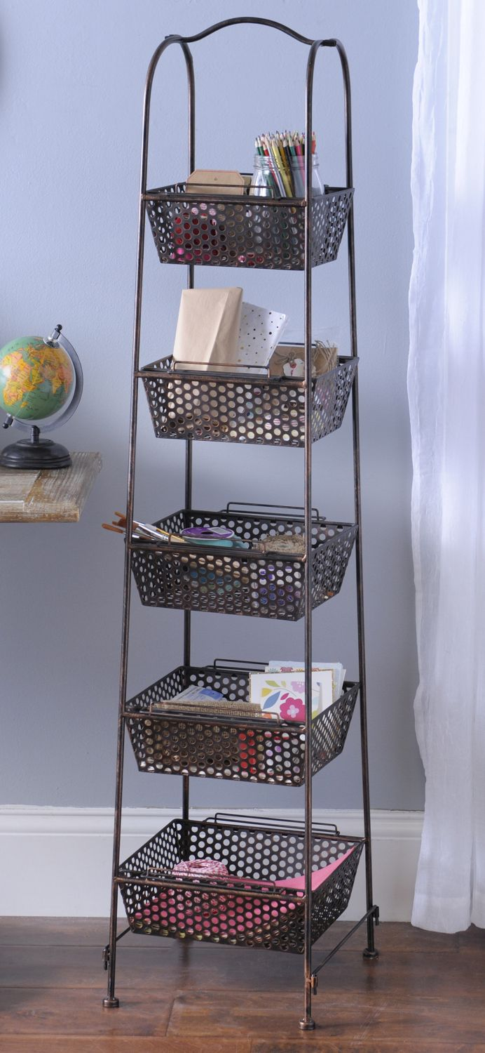 Bronze Metal Basket Tower & Bronze Metal Basket Tower | Metal baskets Perfect place and Dorm
