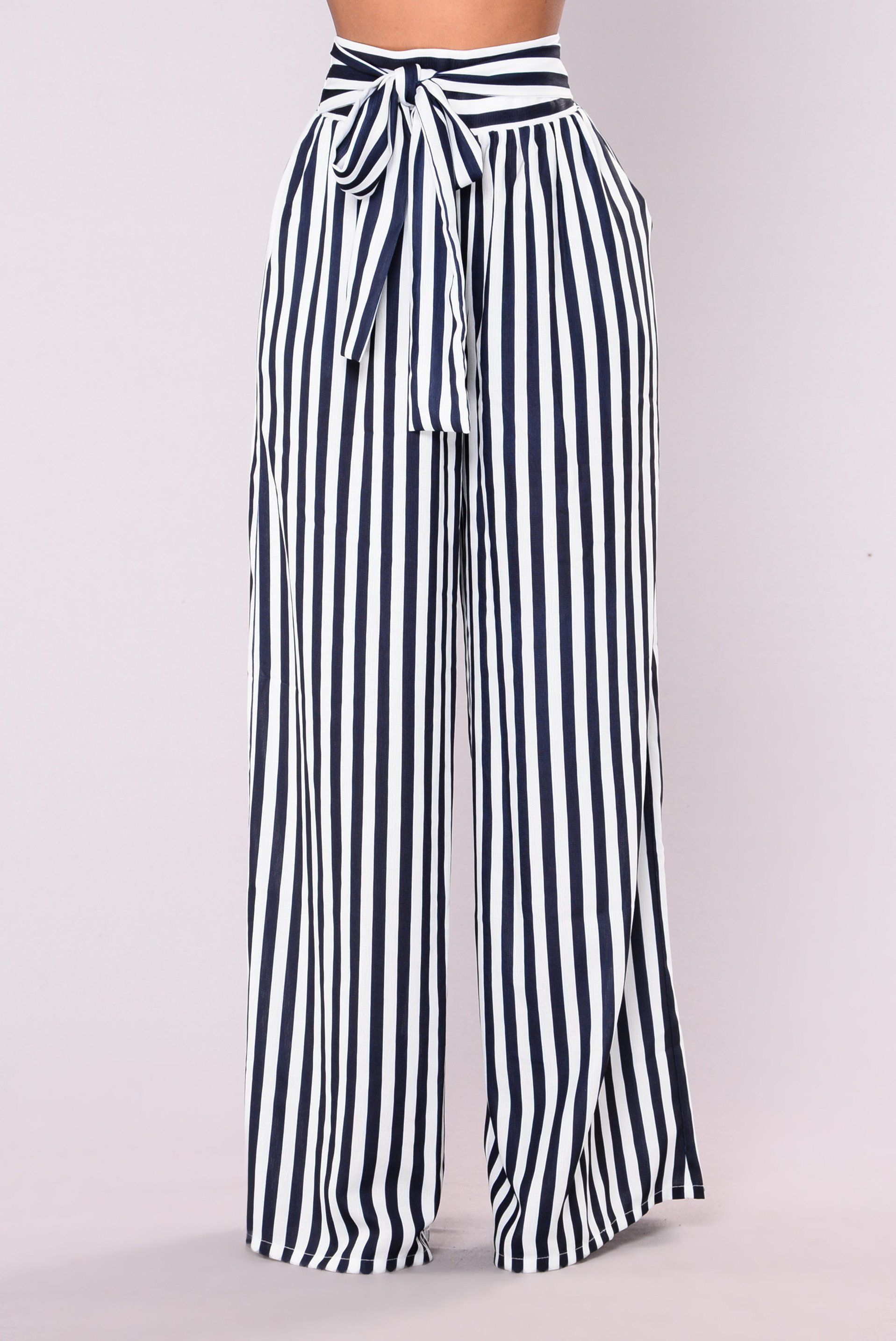 c2fdbe888b Brea Stripe Pants - Navy White en 2019