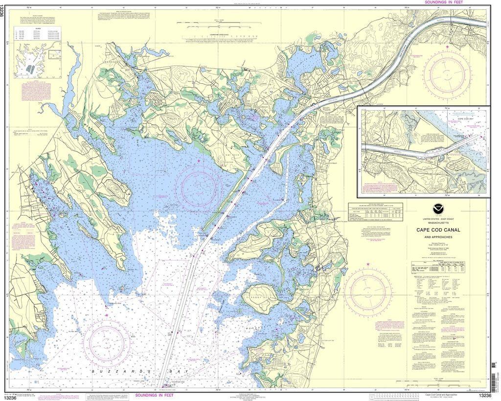 Noaa nautical chart 13236 cape cod canal and approaches boston cape cod massachusetts nvjuhfo Choice Image