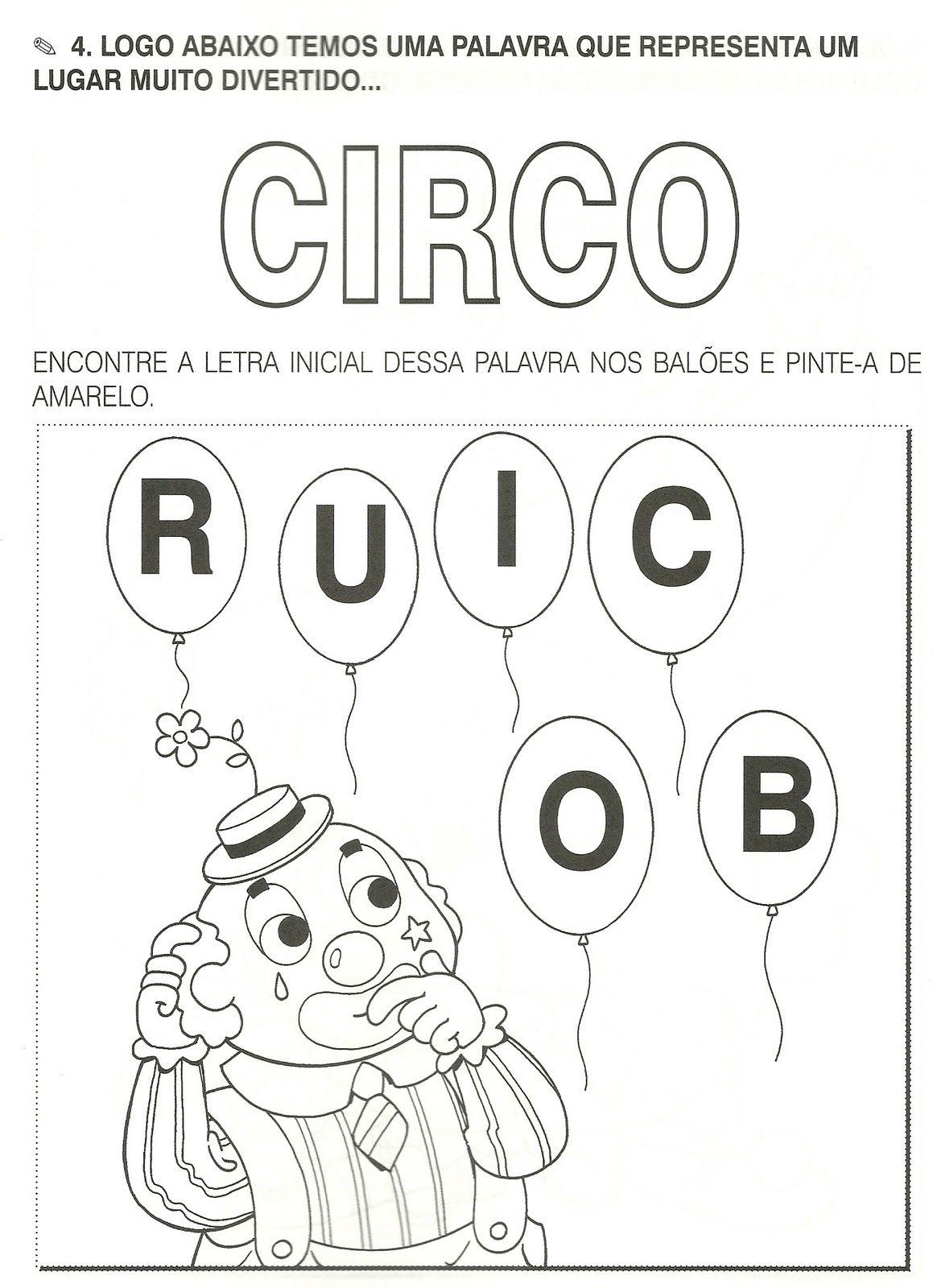 Atividades Dia Do Circo Dia Do Circo Circo E Carnaval