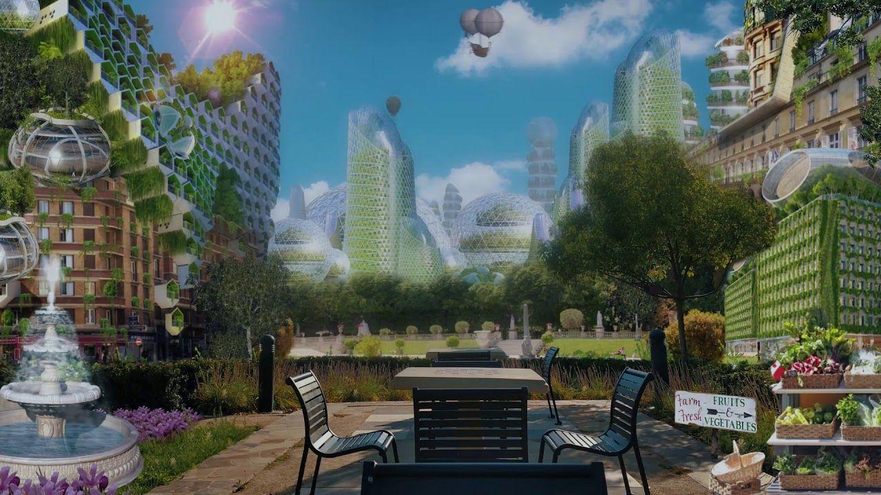 Seraph City Asmr A Solarpunk A Ambience Of The Carbon Coast Solarpunk Novel Youtube Futuristic City City Landscape In The Tree