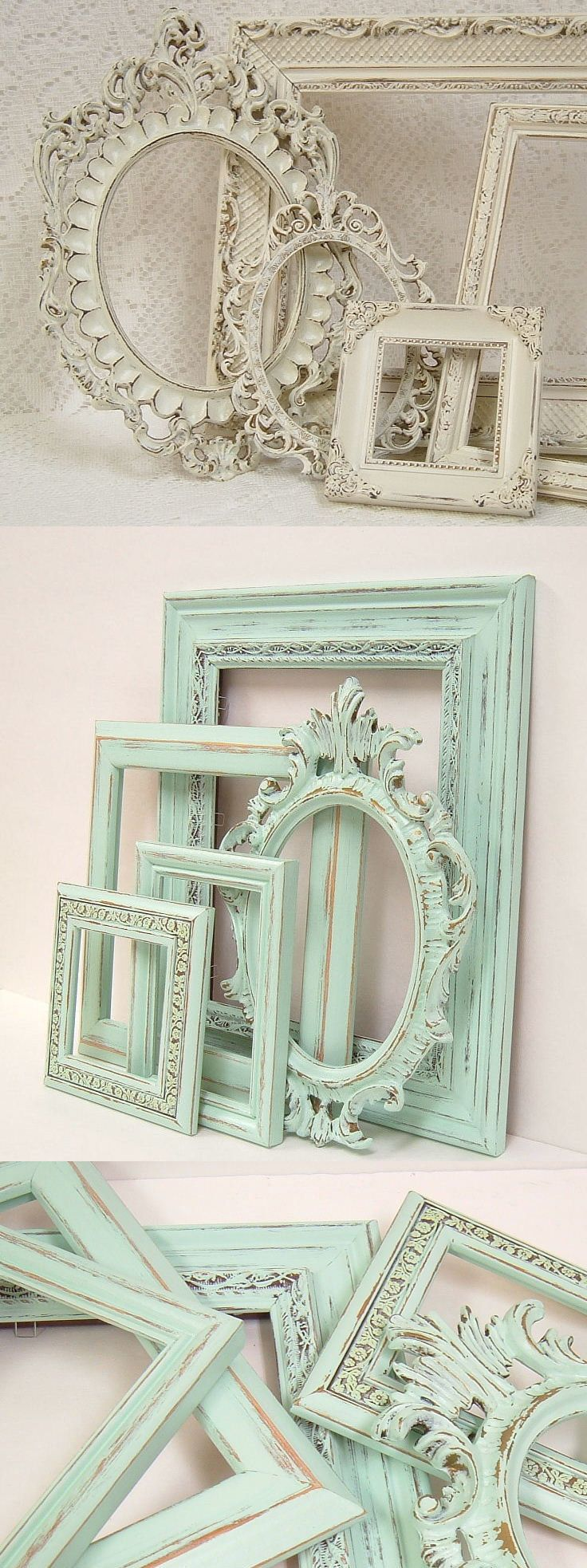 Picture frames shabby chic picture frame set ornate frames ivory picture frames shabby chic picture frame set ornate frames ivory heirloom white victorian frames shabbychic jeuxipadfo Images