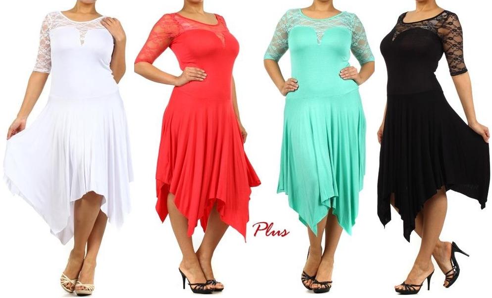 Sexy Curvy Plus Size Dress Colour Black Shoulder And Collection