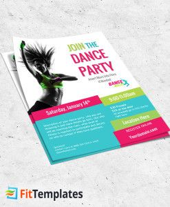 Dance Fitness Flyer Template From FittemplatesCom  Fitness Flyer
