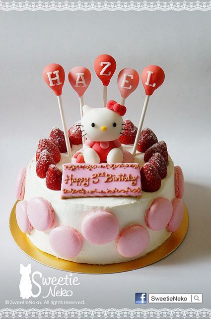 celebration cake Homemade sweets Cream cake and Hello kitty cake