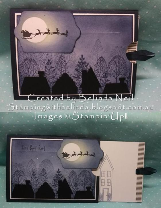 Slider Card - Holiday Homes & Lovely as a Tree. Stampin' Up!