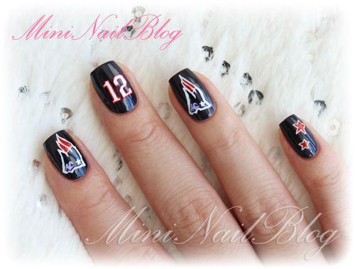 Wow Seriously Talented Patriots Nails Patriots Nail Art Nfl Nails Football Nails