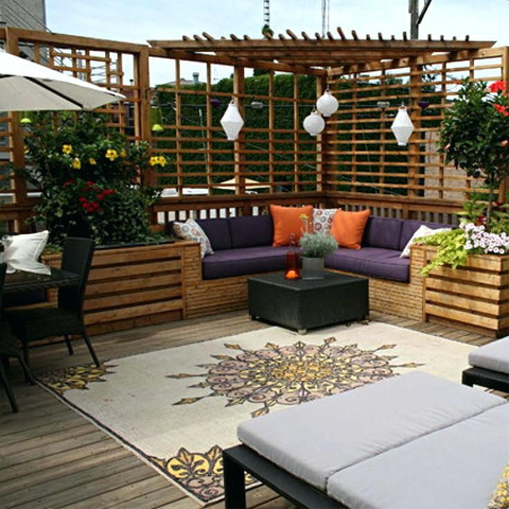 Outdoor Deck Privacy Screen Outdoor Decks This Outdoor Deck  Has Cool Seating Privacy Screen Deck Privacy Screen Ideas And Pictures  736×736 Pixeu2026