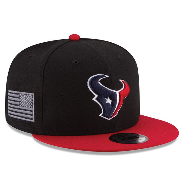 08797b287f5 Houston Texans New Era Crafted In America 9FIFTY Snapback Adjustable Hat -  Black