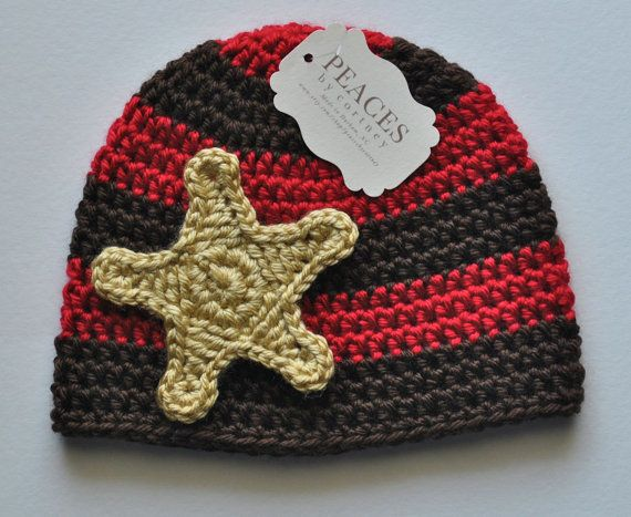 1c41a5ca4ea Toddler Hats Red   Brown Sheriff Toddler by peacesbycortney