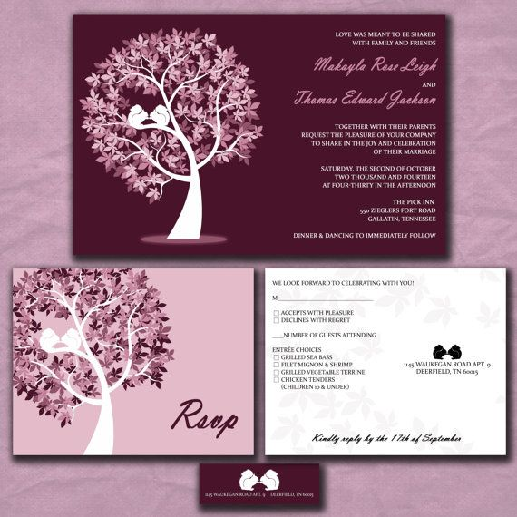 17 Best images about Wedding invitationssave the dates on – Purple Fall Wedding Invitations