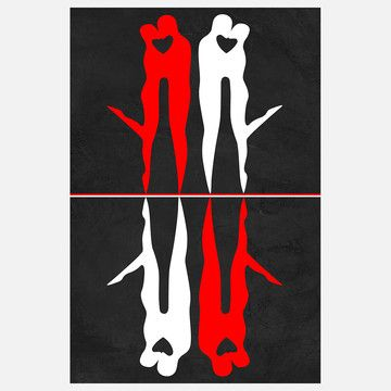 Kiss Reflection Canvas, $60, now featured on Fab.