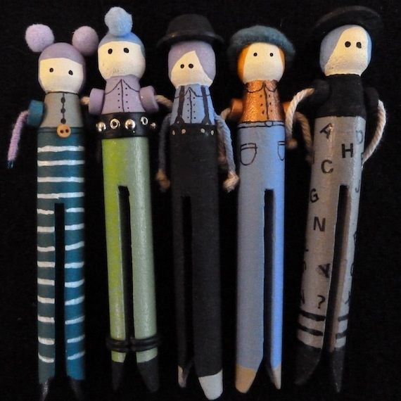 Latest Peg doll brooches by MoggyMoo, via Flickr