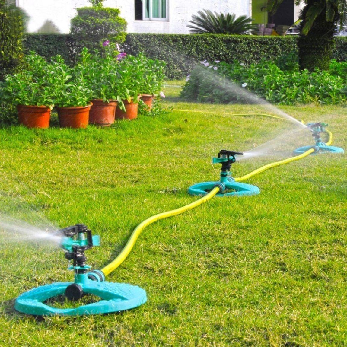 Water Sprinkler System Impulse Long Range Sprinklers for Garden and Lawn