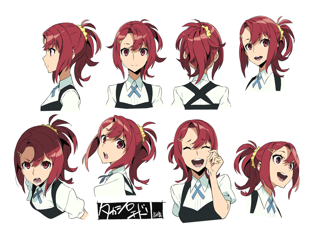 Anime Characters Reference : Kiznaiver character sheet story board and animation