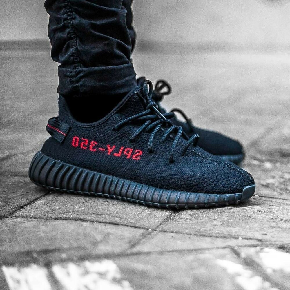 super popular b6fd1 4425d adidas Yeezy Boost 350 V2 Bred (black) In Fair Condition ...