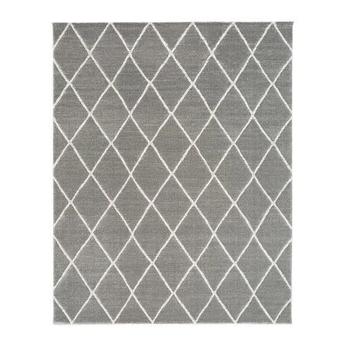 Vantore Rug Low Pile Gray White Diamond Pattern 7 10 X9 10 Avec Images