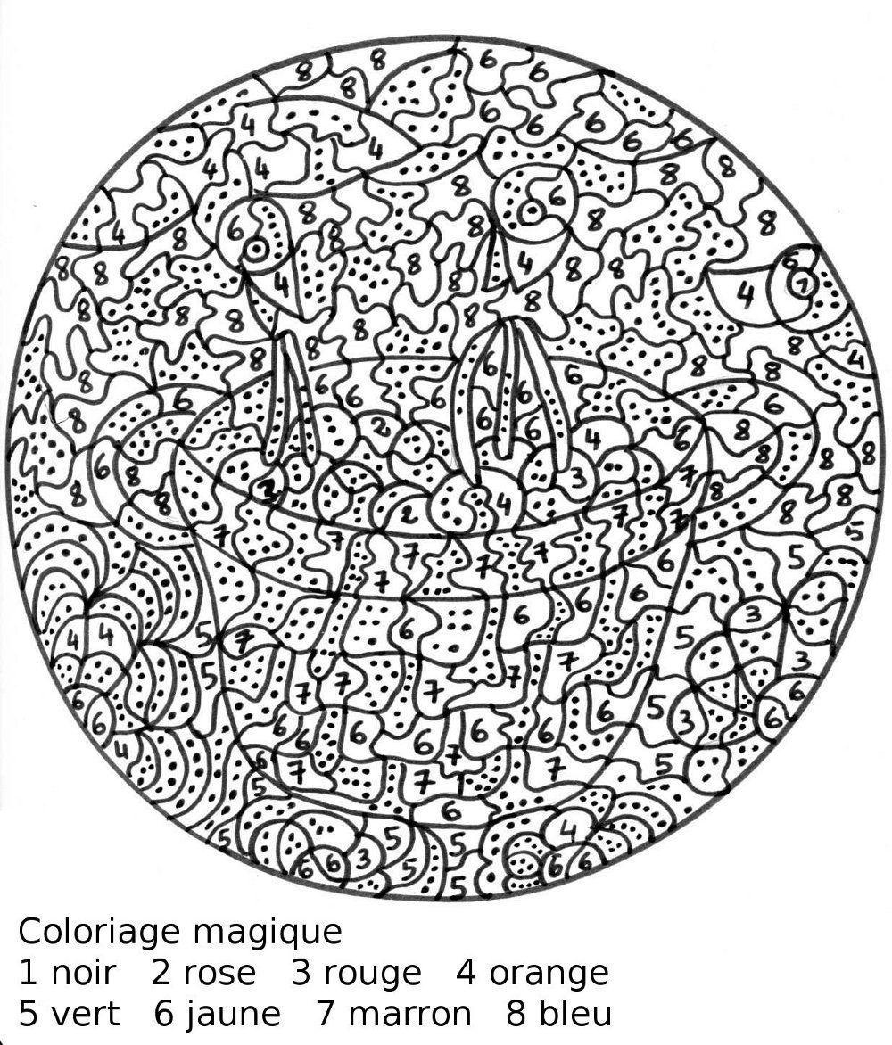 Maternelle coloriage magique