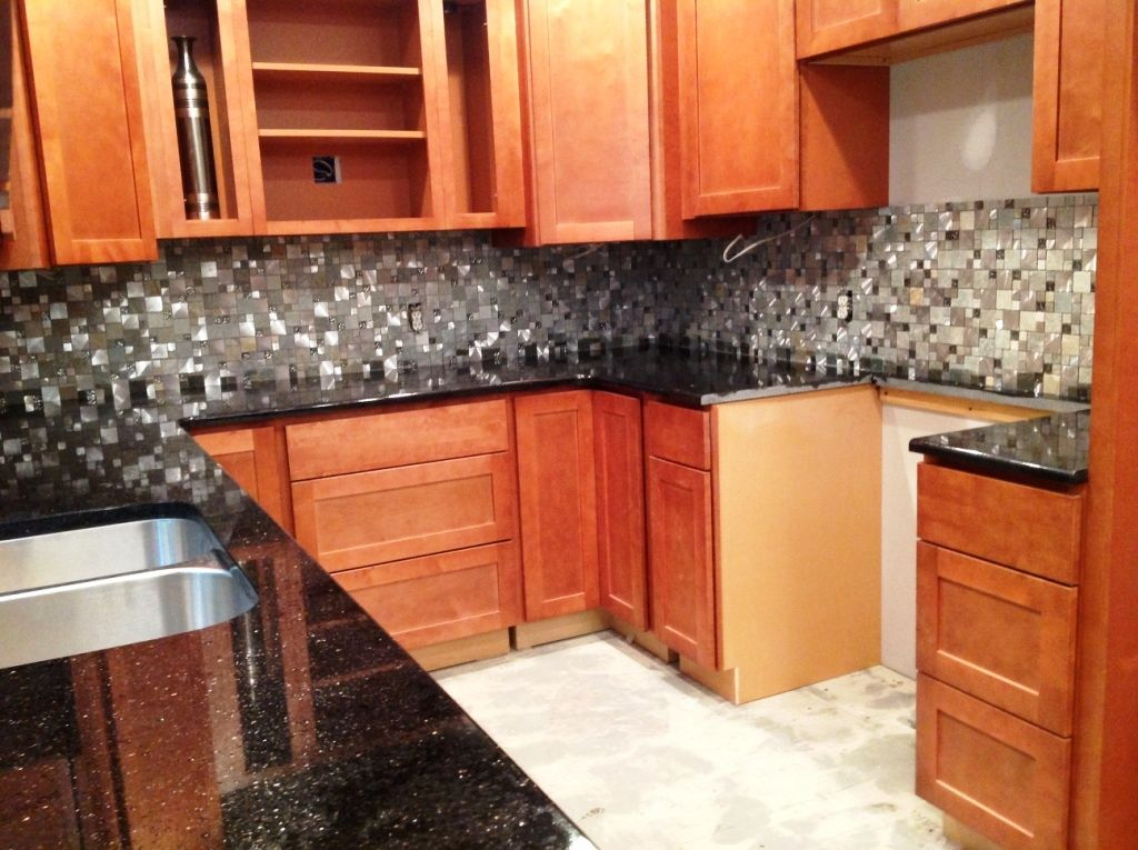 Granite Countertops Installed In Kannapolis NC BLACK GALAXY 6 22 13  Http://www
