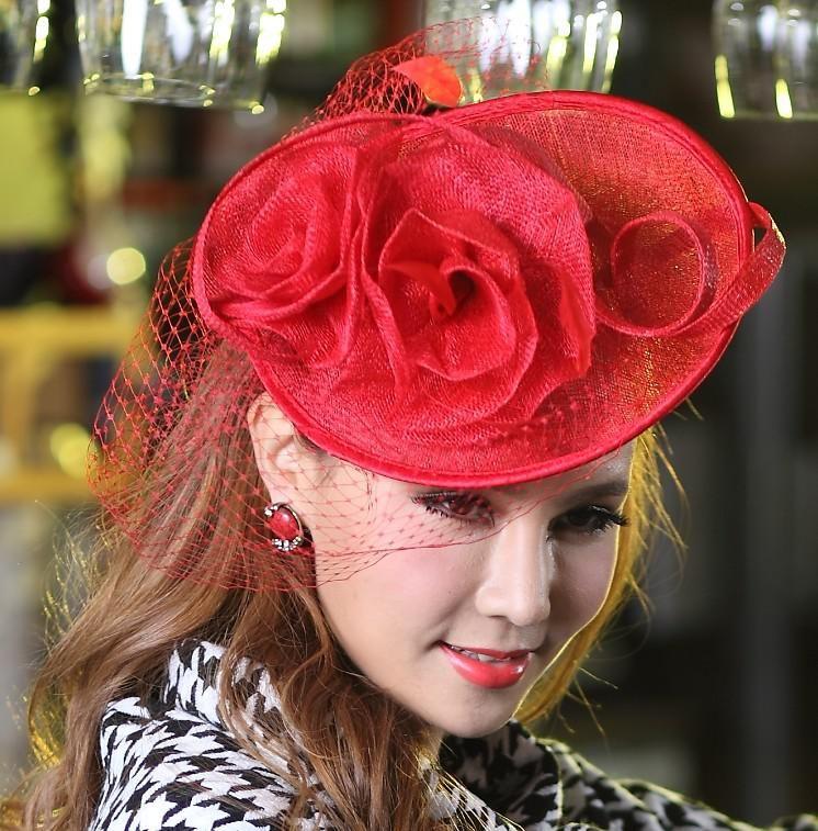 Women Fascinator Hat Hair Accessories Lady Hair Wear Stingy Brim Hats  221788b21d2