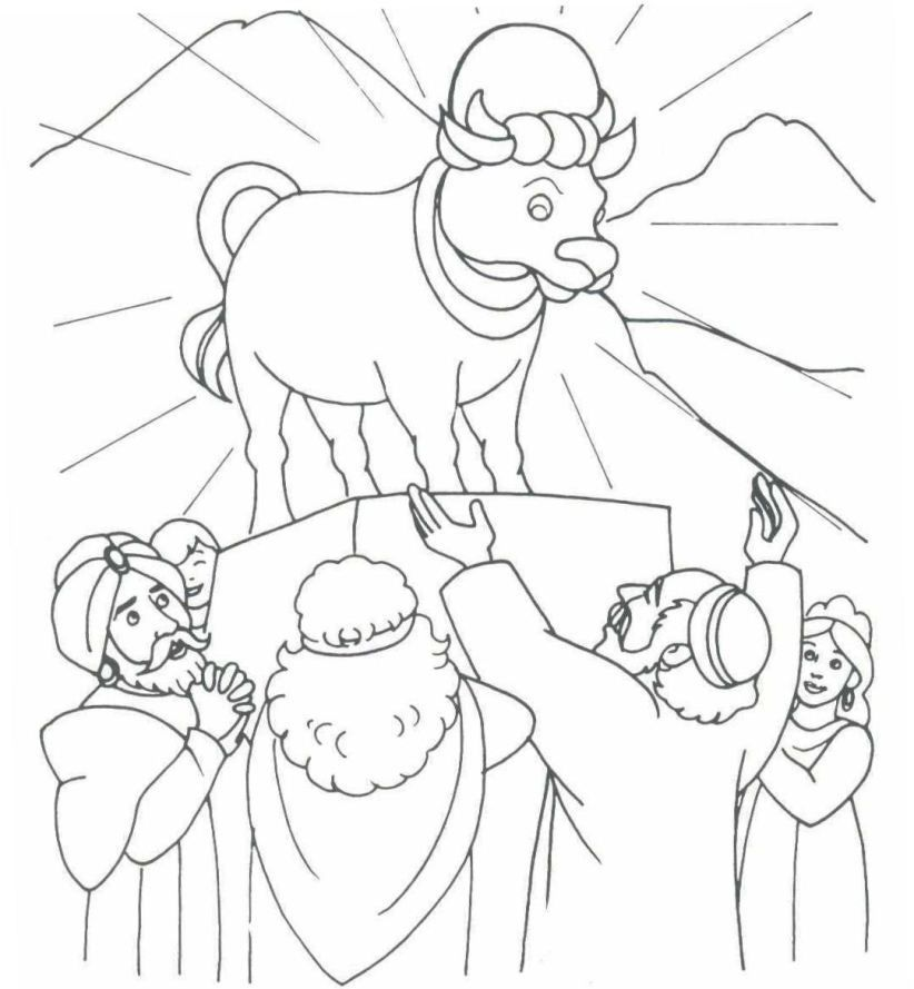 The golden calf (Exodus 32) Bible - Moses Pinterest Exodus 32 - new free coloring pages quail