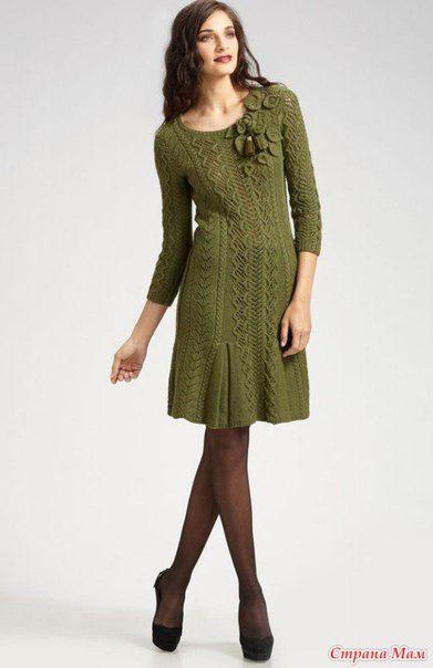 Вязанное платье от оскара де ла ренте