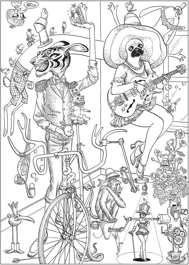 Welcome To Dover Creative Haven Bizarro Land Coloring Book By Bizarro Cartoonist Dan Piraro Cute Coloring Pages Dover Coloring Pages Mandala Coloring Books