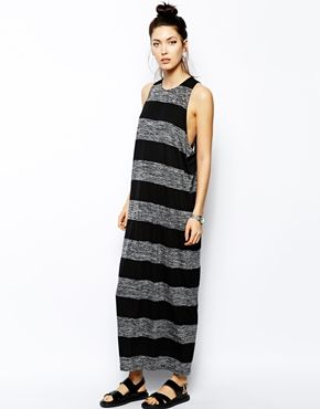 love this look.  not sure its me though.   asos Cheap Monday Drop Armhole Stripe Tank Dress