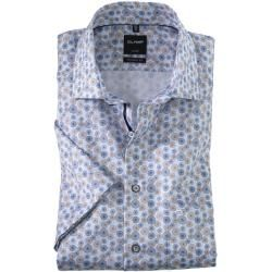 Photo of Olymp Luxor short sleeve shirt, modern fit, Global Kent, Nougat, 42 Olymp