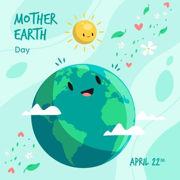 Día de la madre tierra sonriendo al sol | Free Vector # ...