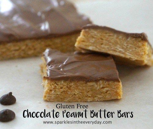 Gluten Free Chocolate Peanut Butter Bars Recipe Peanut Butter