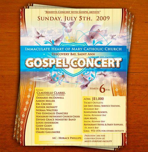 Gospel Concert | Flyer Inspiration | Pinterest | Gospel concert