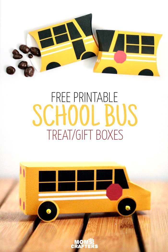 These school bus boxes are so adorable!