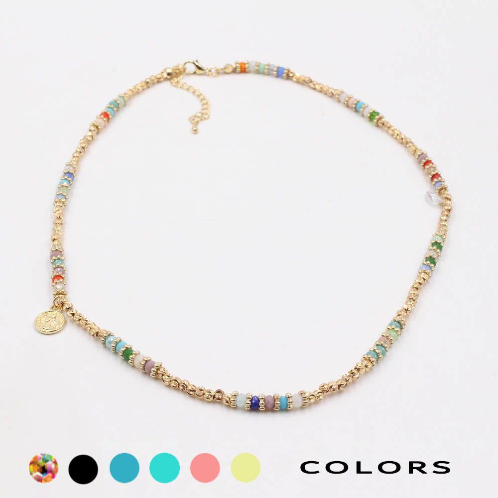 عقد كاجوال انيق جنيهات ذهبية متوفر بألوان مختلفة اشتريها الآن 51817 سلسال اكسوارات شنط حقائب فاشن ستايل كل يوم موضة Beaded Necklace Jewelry Jewels