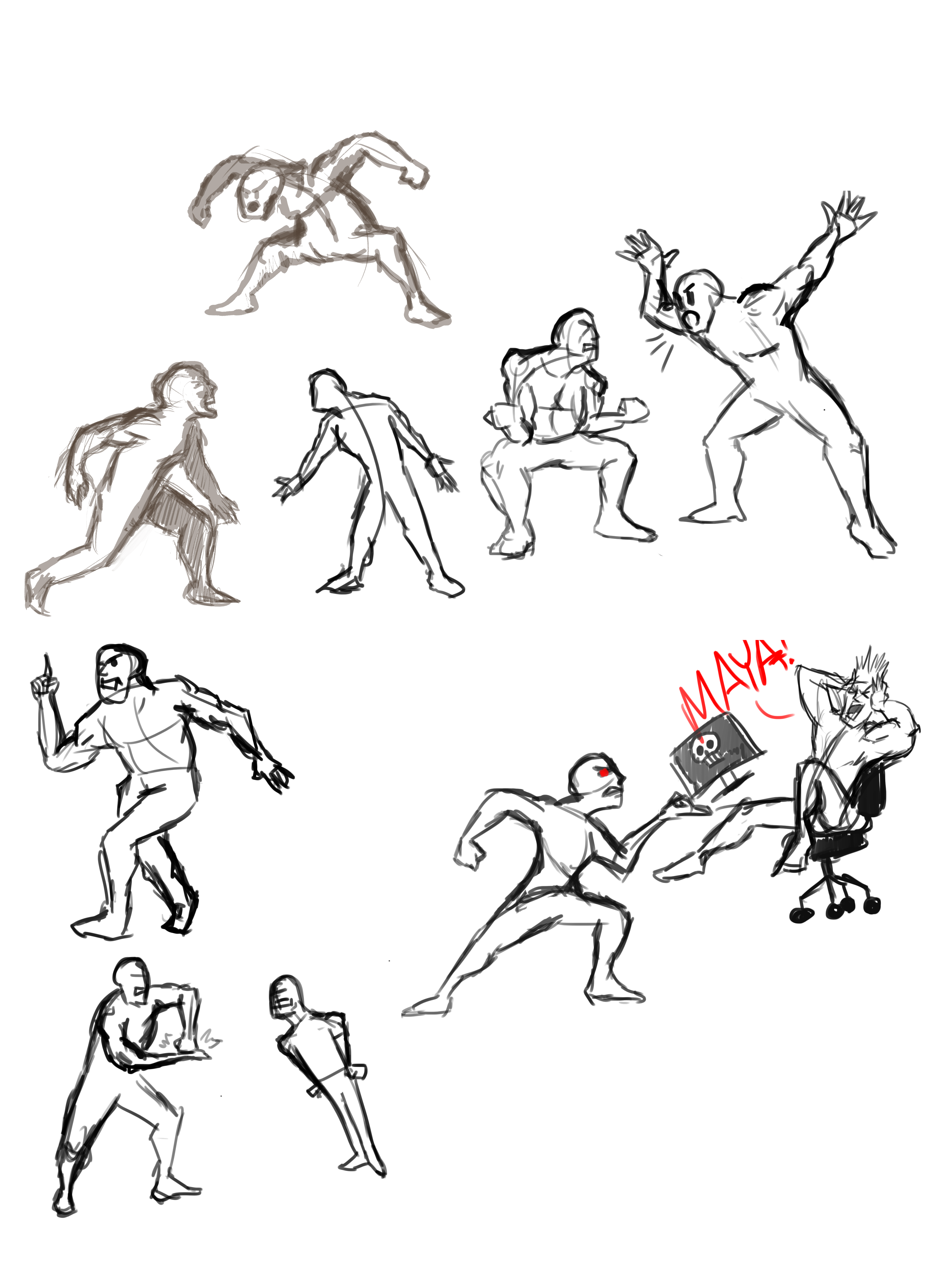 Angry Pose Refs Pose Reference Poses Character Design