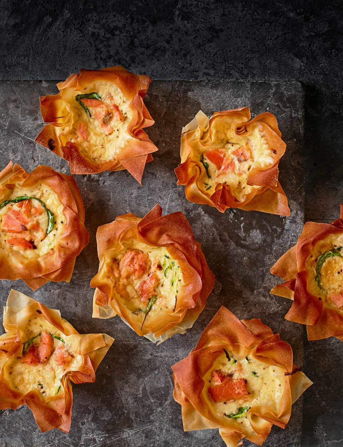 hot smoked salmon and courgette mini quiches recipe baking recipes in 2019 mini quiche recipes smoked salmon recipes picnic foods pinterest