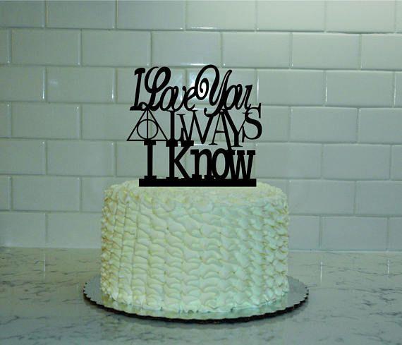 Harry Potter Star Wars Wedding Cake Topper I Love You Always I