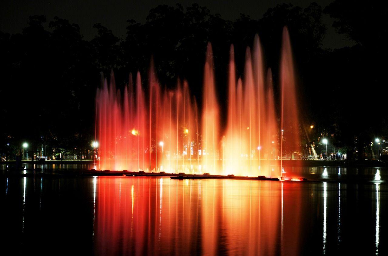 Park, Ibirapuera Park, Lights, Night park,