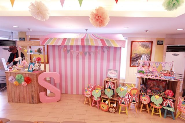 Sophie's Pretty in Pink Carnival Themed Party: Backdrop