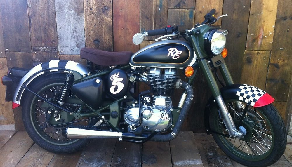 Royal Enfield classic 500 efi Brat Custom Cafe racer