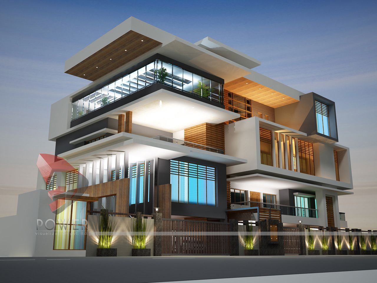 Modern house design in india architecture india modern Modern house columns