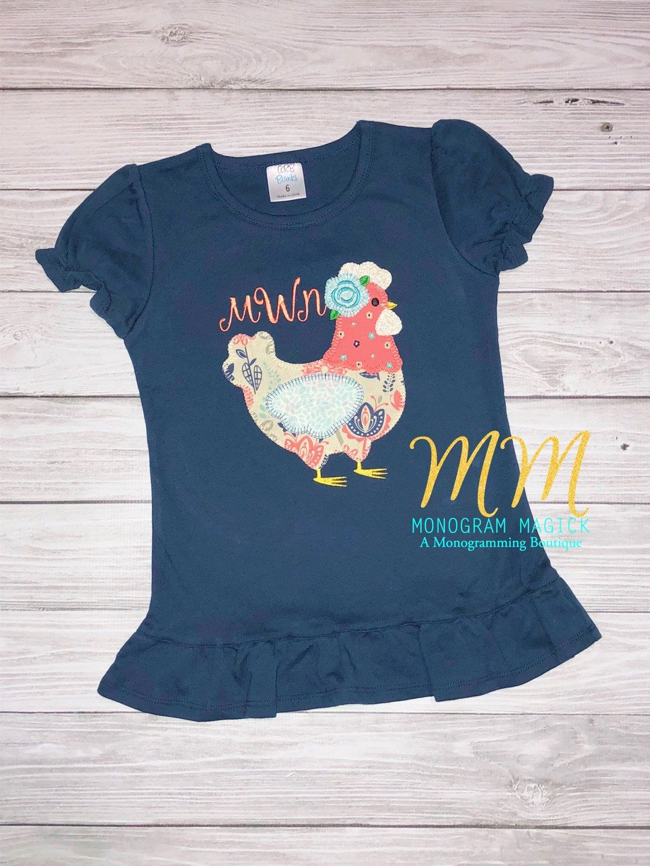 Keep Calm and Love Pigs Shirt Kids Girls Short Sleeve Ruffles Shirt Tee for 2-6 Toddlers